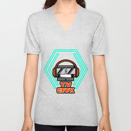 Couch Potato TV Geek Chilly Life Unisex V-Neck