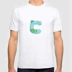 letter C Mens Fitted Tee Ash Grey SMALL