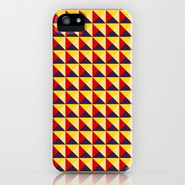 Abstract Triangle Pattern - Colorway #1 iPhone Case