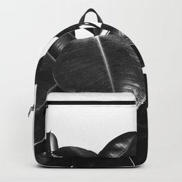 Black Ficus Elastica Backpack