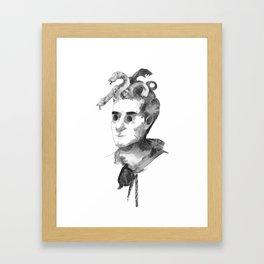 Snake Boy Framed Art Print
