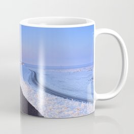I - Lake and dike at sunrise in winter in The Netherlands Coffee Mug