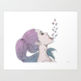 -Pills Art Print