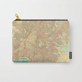 Athens Map Retro Carry-All Pouch