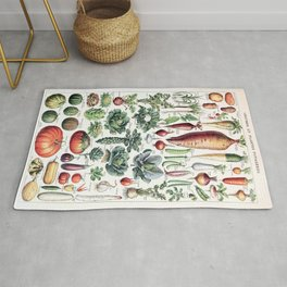 Adolphe Millot - Légumes pour tous - French vintage poster Rug