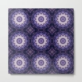 Round ornament in purple tones . Metal Print