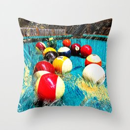 Modern billiards and pool art 3 Throw Pillow