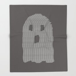 Ghost Typography Throw Blanket