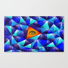 Tethrous V1 - watching triangle Canvas Print