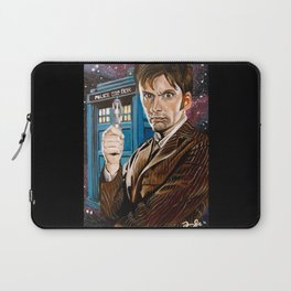The Tenth Doctor and His TARDIS Laptop Sleeve