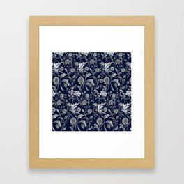 Blue Floral - 5 Framed Art Print