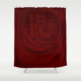 Love Letter Rose Shower Curtain