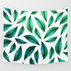 Tropical Foliage Pattern #society6 #decor #buyart Wall Tapestry