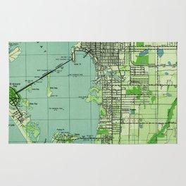 Vintage map of Sarasota Florida (1944) Rug