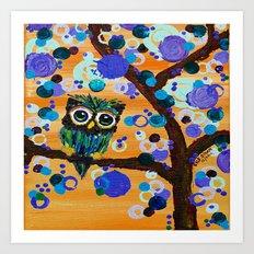 :: Sunset Gemmy Owl :: Art Print