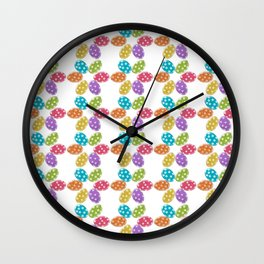 Colorful Easter eggs pattern Wall Clock