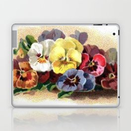Vintage Pansies Laptop & iPad Skin