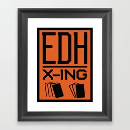 Magic the Gathering inspired EDH poster crossing sign Framed Art Print