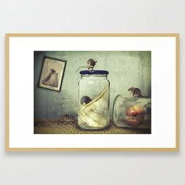 We are like lab rats Framed Art Print