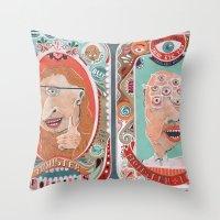 monster Throw Pillows featuring Monster Focals by Valeriya Volkova