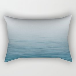 Ocean Blue Gradient Rectangular Pillow