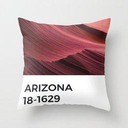 Arizona Red Orange Gradient Canyon Pantone Chip Throw Pillow