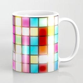Colorful blurred lights geometric abstract digital art  Coffee Mug