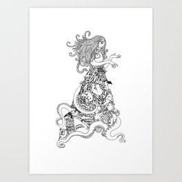Animal Dress Art Print