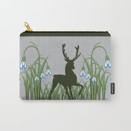 Stag + Snowdrops Carry-All Pouch