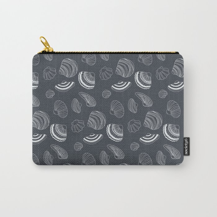 Tropical pattern with sea shells Carry-All Pouch