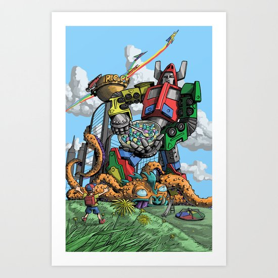 Breakfast Time! Art Print