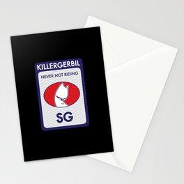Killer Gerbil Tubing Blue Stationery Cards
