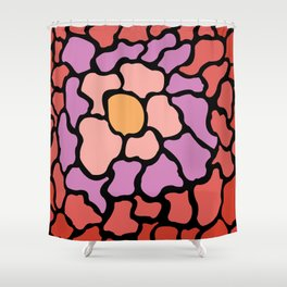 abstract shades of red and pink Shower Curtain