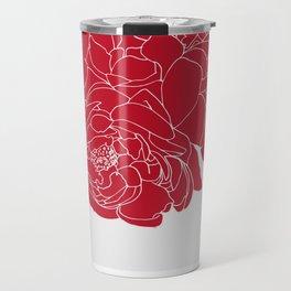 Floral Reds Travel Mug