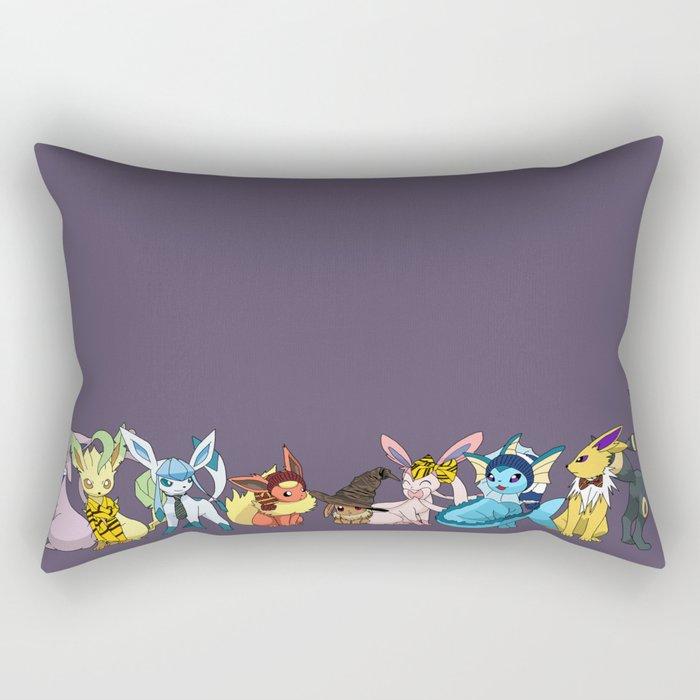 Eeveelutions Go To Hogwarts Rectangular Pillow