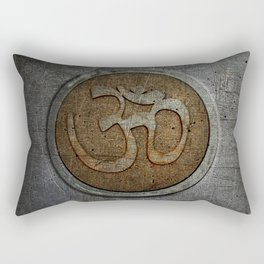 The sound of the Universe. Gold Ohm Sign On Stone Rectangular Pillow