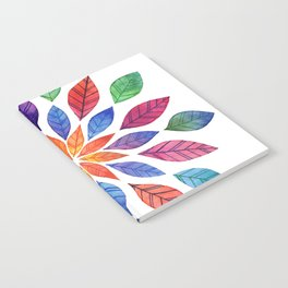 Rainbow Leaves Notebook