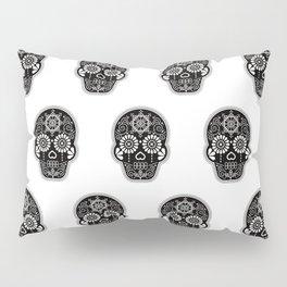 Día de Muertos Calavera • Mexican Sugar Skull – Black Palette Pillow Sham