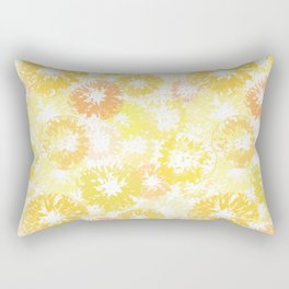 Sunny Yellow Lemon / Orange / Citrus Print Pattern Rectangular Pillow