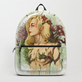 "Watercolor Painting of Picture ""Profile Woman"" Backpack"