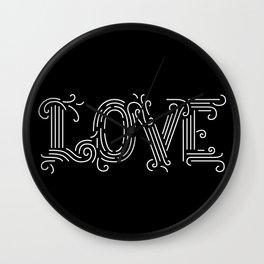 Love (black) Wall Clock