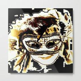 Maske Metal Print