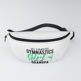 Gymnast Grandfather My Favorite Gymnast Calls Me Grandpa Fanny Pack