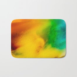 The Fall is Coming -  Abstract Ink and Resin Art Bath Mat