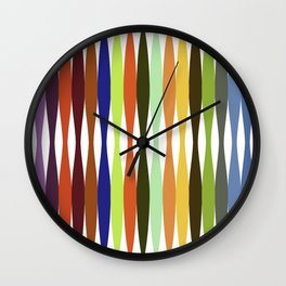 Rainbow Tree Inspired Art on White background Wall Clock