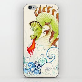 A happy dragon iPhone Skin