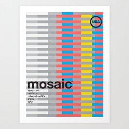 mosaic color variant (2018) Art Print