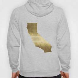 california gold foil state map  Hoody