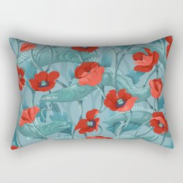 Barracuda - Aqua version Rectangular Pillow