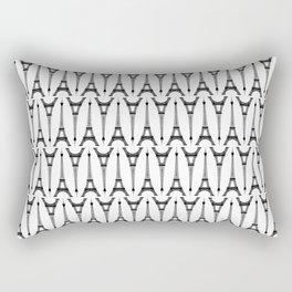 Black Eiffel Towers on White Rectangular Pillow